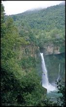 Jeden z wodospadów w Siete Tazas